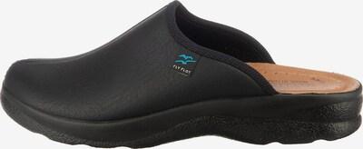 FLY FLOT Pantoletten in schwarz, Produktansicht