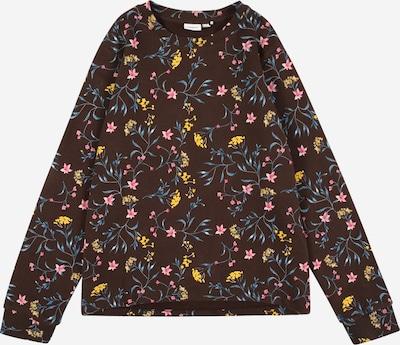NAME IT Sweatshirt 'Otello' in blau / braun / gelb / rosa, Produktansicht