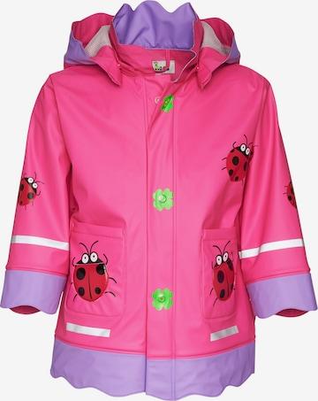 PLAYSHOES Coat 'GLÜCKSKÄFER' in Pink