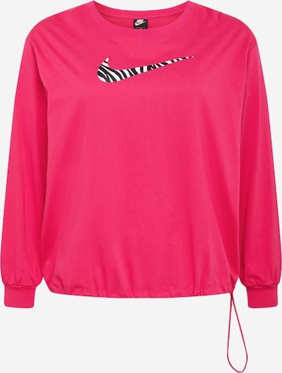 Nike Sportswear Sweatshirt in beere / schwarz / weiß, Produktansicht