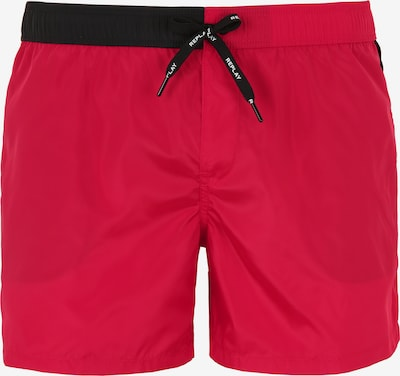 REPLAY Badeshorts mit Two Tone Bündchen in rot, Produktansicht