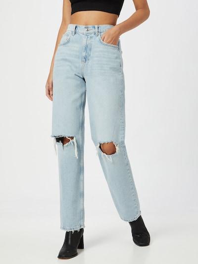Gina Tricot Jeans '90s' in de kleur Lichtblauw, Modelweergave