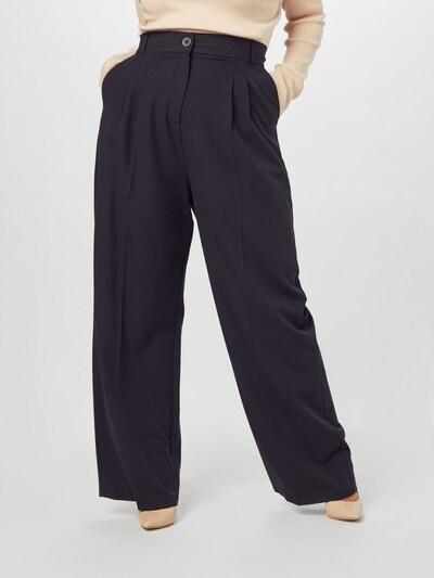 River Island Plus Pantalon à pince 'Michelle' en noir, Vue avec modèle