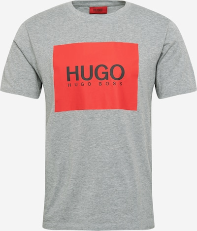 HUGO Majica 'Dolive' | nočno modra / siva / svetlo rdeča barva, Prikaz izdelka