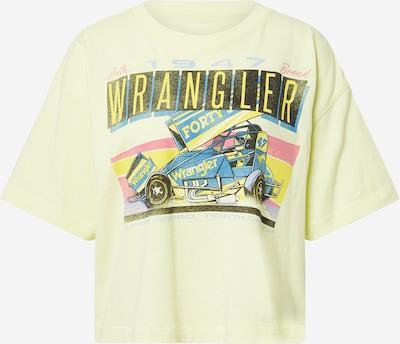 WRANGLER Tričko 'BOXY' - dymovo modrá / žltá / pastelovo žltá / čierna: Pohľad spredu
