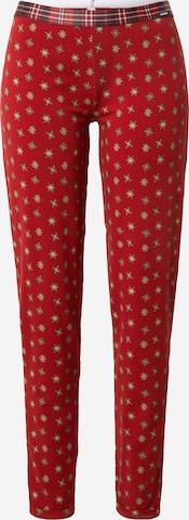 sarkans Skiny Pidžamas bikses