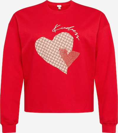 Bluză de molton River Island Plus pe bej / roz pudră / roșu, Vizualizare produs