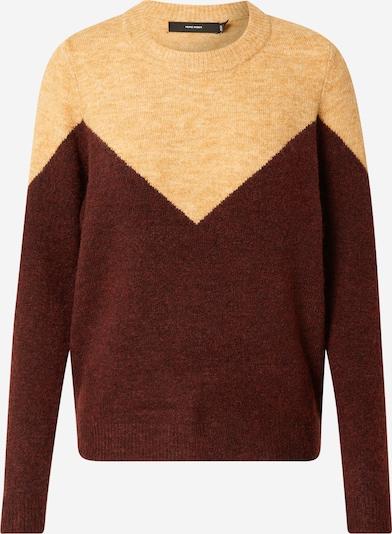 VERO MODA Pullover  'PLAZA' in rostbraun / gelb, Produktansicht