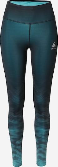 ODLO Športové nohavice - smaragdová / nefritová / čierna, Produkt