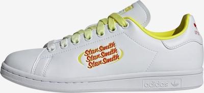 ADIDAS ORIGINALS Sneaker 'Stan Smith' in neongelb / feuerrot / weiß, Produktansicht