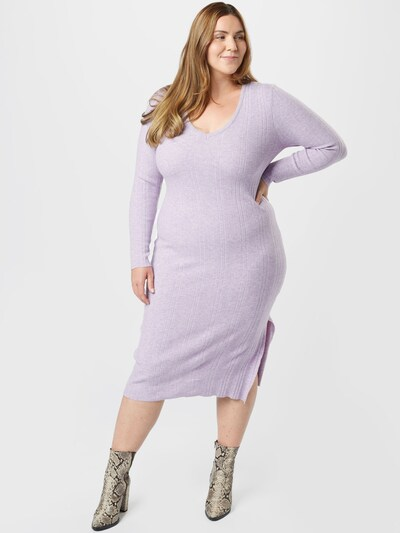 Rochie tricotat 'EMILY' Cotton On Curve pe mov pastel, Vizualizare model