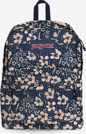 JANSPORT Rucksack 'SuperBreak' in dunkelblau / pastellgrün / apricot / weiß, Produktansicht