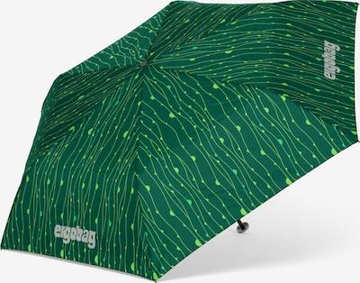 ergobag Regenschirm in grün / hellgrün, Produktansicht