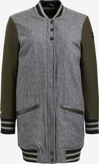 khujo Jacke 'PUDONG' in grau / grün / schwarz, Produktansicht