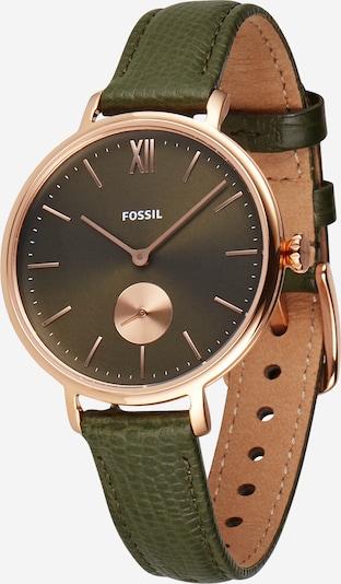 Ceas analogic 'Kalya' FOSSIL pe auriu - roz / verde, Vizualizare produs