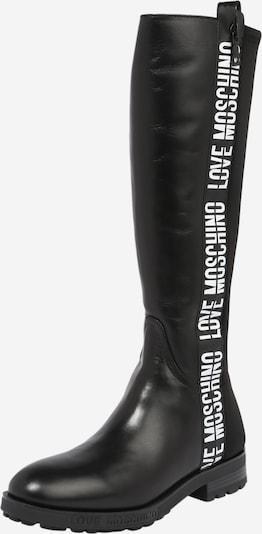 Love Moschino Stiefel in schwarz / weiß, Produktansicht