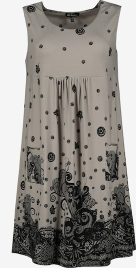 Ulla Popken Kleid in grau / schwarz, Produktansicht