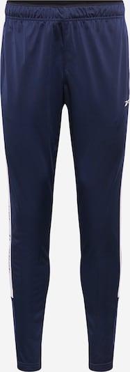 REEBOK Sporthose in blau / schwarz / weiß, Produktansicht