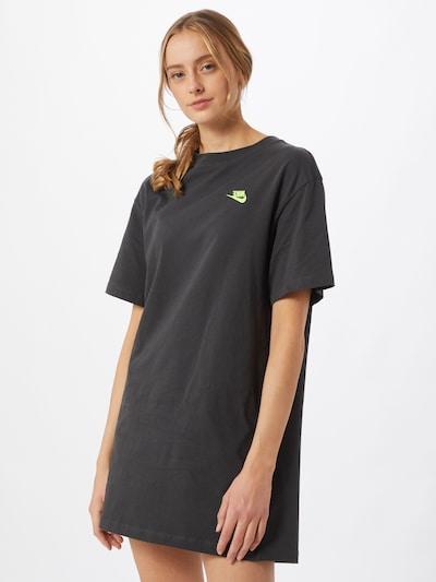 Nike Sportswear Šaty - grafitová / svítivě zelená, Model/ka