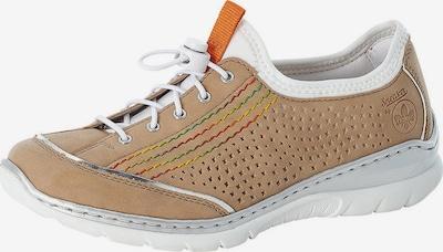 RIEKER Baskets basses en beige clair / argent / blanc, Vue avec produit