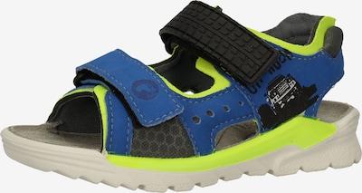 RICOSTA Sandale in blau / neongrün / schwarz, Produktansicht