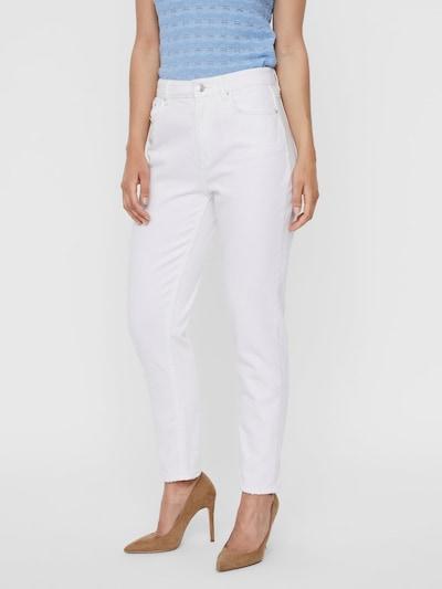VERO MODA Hose 'Mom Ankle Jeans' in weiß, Modelansicht