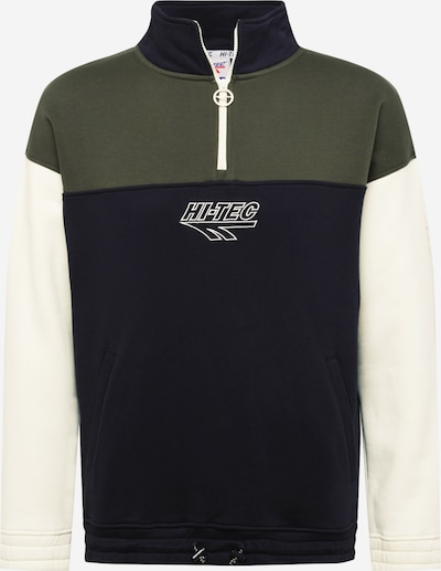 HI-TEC Athletic Sweatshirt 'PETER' in Olive / Black / White, Item view
