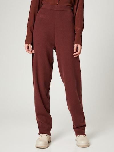 Guido Maria Kretschmer Collection Pantalon 'Merle' en marron, Vue avec modèle