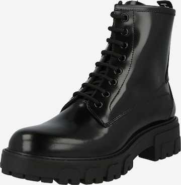 HUGO Lace-Up Ankle Boots 'Axel' in Black
