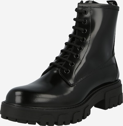 HUGO Lace-Up Ankle Boots 'Axel' in Black / White, Item view