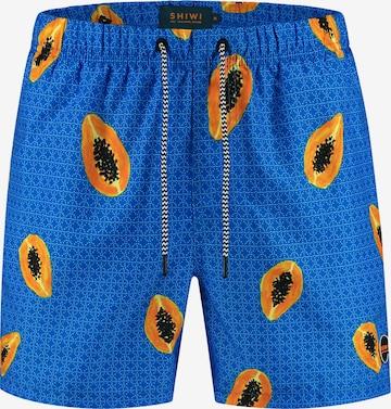 Shiwi Swimming Trunks 'Papaya' in Blue