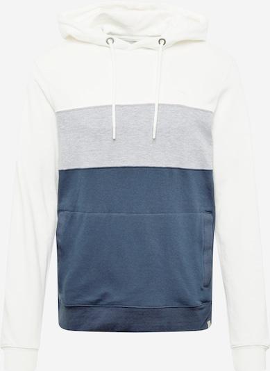 BLEND Mikina - tmavomodrá / sivá melírovaná / biela, Produkt