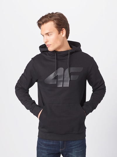 4F Športová mikina - sivá / čierna: Pohľad spredu