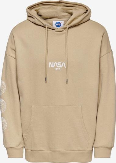 Only & Sons Sweatshirt 'ONSNASA' in cappuccino / weiß, Produktansicht
