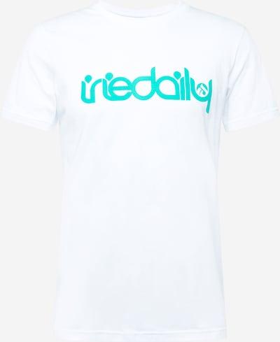 Iriedaily T-Shirt 'No Matter 4' in jade / offwhite, Produktansicht