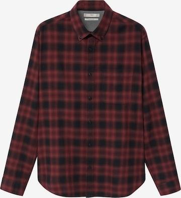 MANGO MAN Button Up Shirt in Red