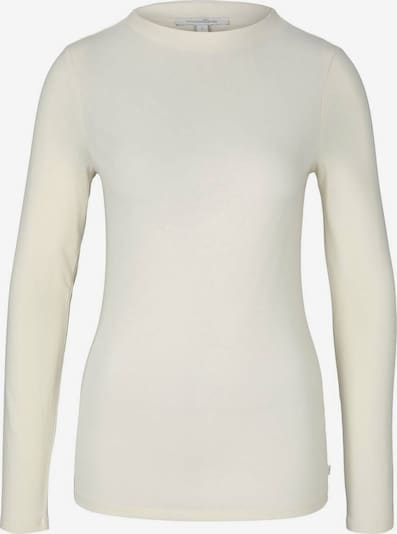 TOM TAILOR DENIM Langarmshirt in beige, Produktansicht