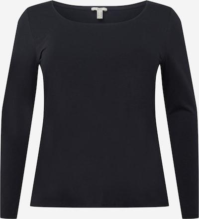 Tricou Esprit Curves pe negru, Vizualizare produs