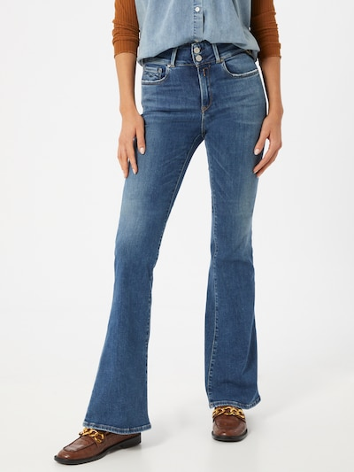 REPLAY Jeans 'NEWLUZ FLARE' in blue denim, Modelansicht