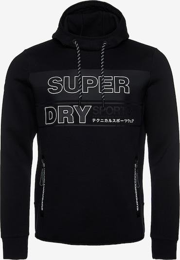 Superdry Hoodie in hellgrau / schwarz / weiß, Produktansicht