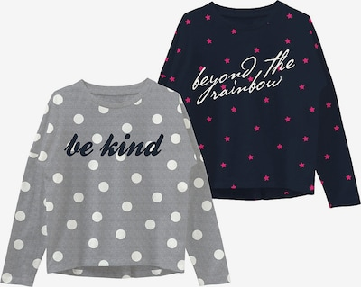 NAME IT Shirt in navy / grau / pink / weiß, Produktansicht