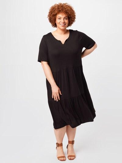 KAFFE CURVE Kleid in schwarz, Modelansicht