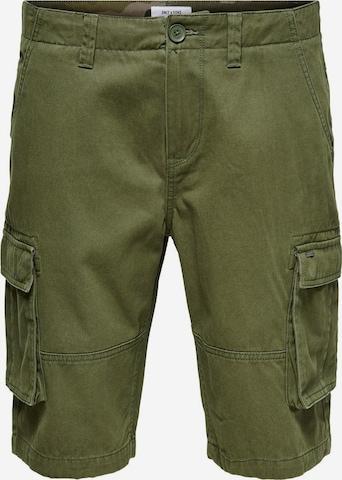 Pantalon cargo Only & Sons en vert