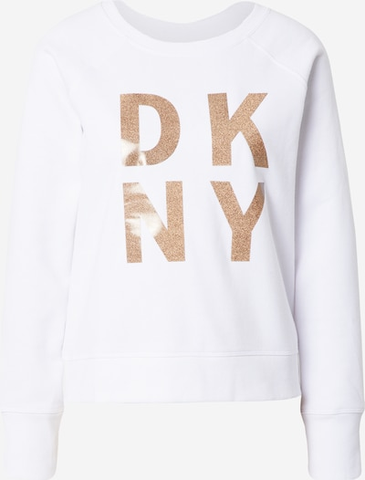 Megztinis be užsegimo iš DKNY Performance , spalva - Auksas / balta, Prekių apžvalga