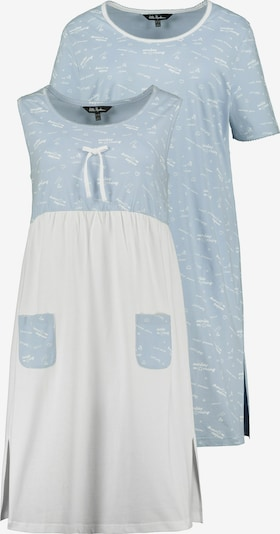 Ulla Popken Slaapshirt in de kleur Lichtblauw, Productweergave