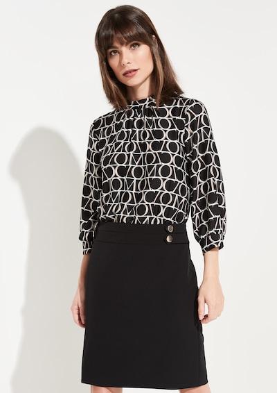 COMMA Kleid in schwarz / weiß: Frontalansicht