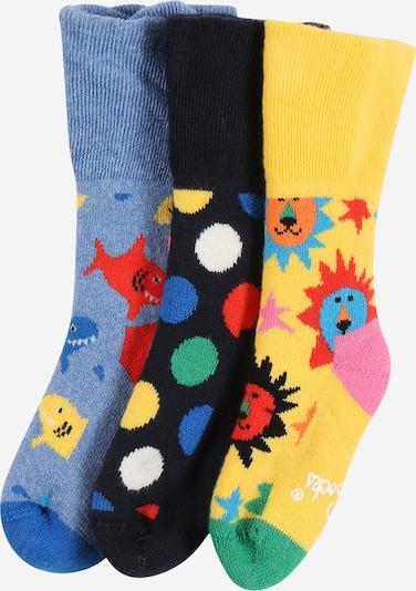 Calzino Happy Socks di colore blu fumo / blu notte / giallo / verde chiaro / rosso, Visualizzazione prodotti