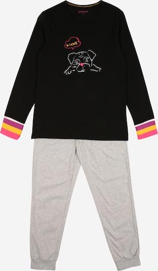 SCHIESSER Guļamtērps 'Follow me' pelēks / melns, Preces skats