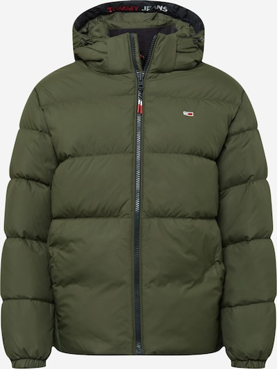Tommy Jeans Winter Jacket in Navy / Olive / Fire red / White, Item view
