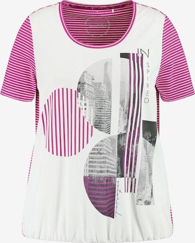 SAMOON T-Shirt in lila / pink / schwarz / weiß, Produktansicht